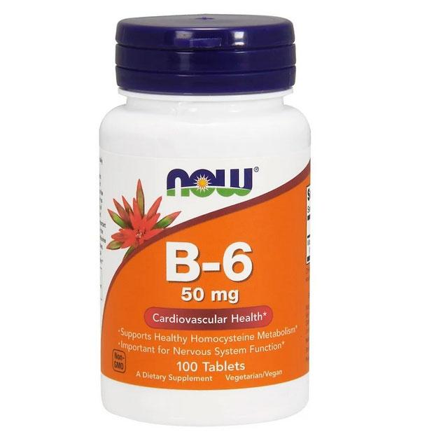 NOW В6 50 mg